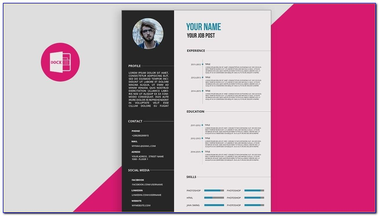 Creative Resume Psd Template Free Download