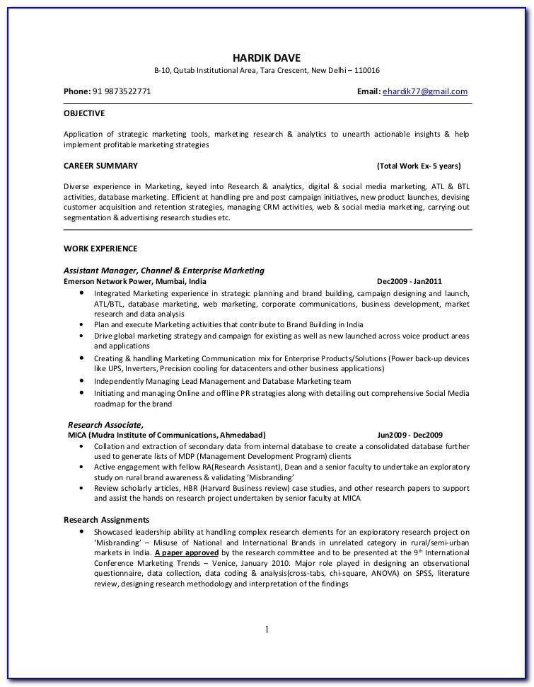 Creative Resume Templates For Freshers Engineers