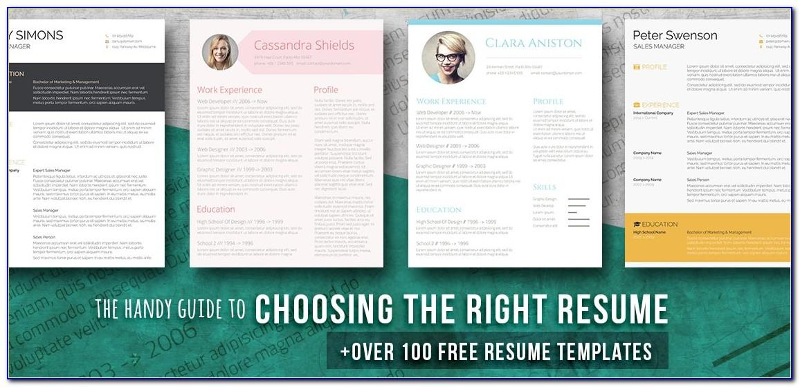 Creative Resume Templates Free Download Psd