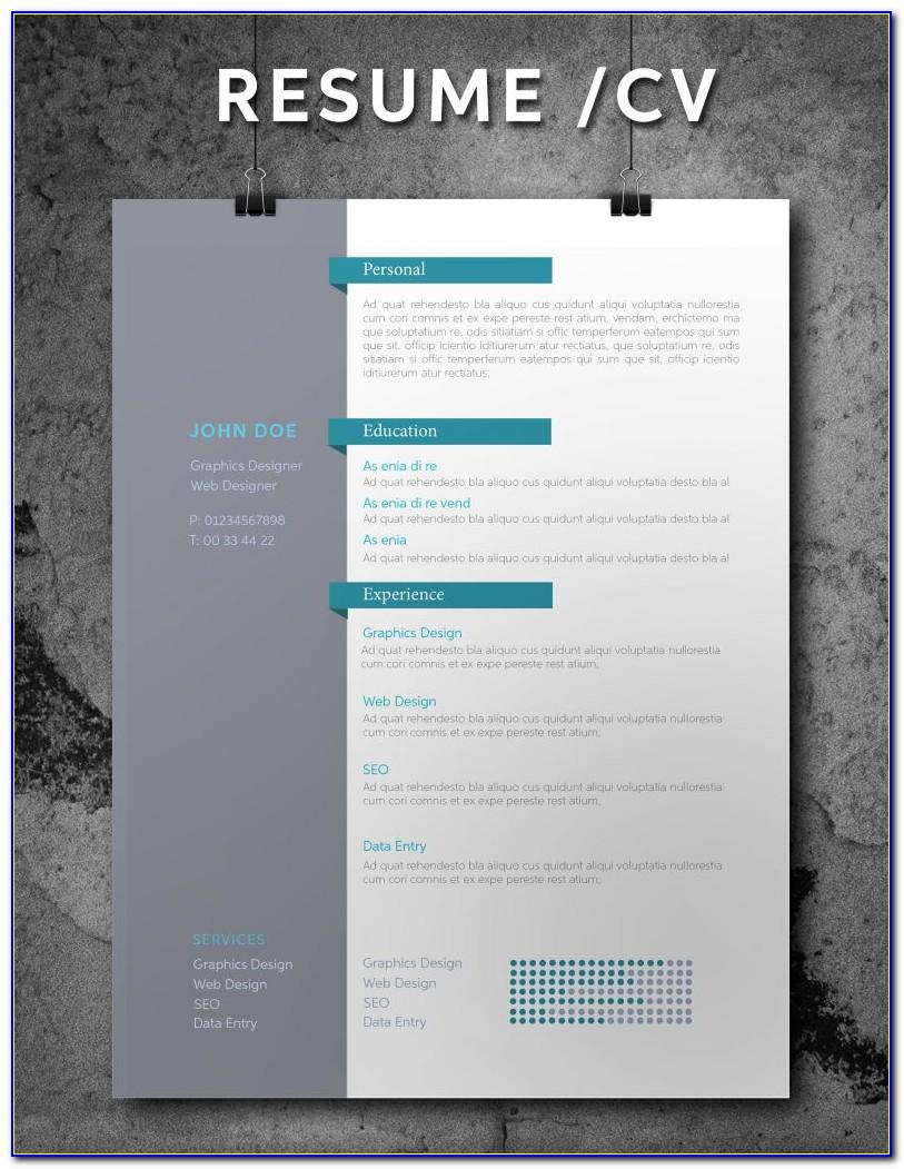 Creative Resume Templates Indesign Free