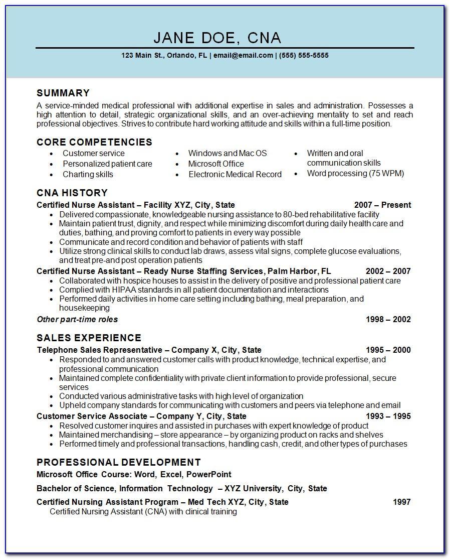Curriculum Vitae Sample Format Free Download