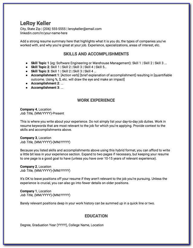 Curriculum Vitae Sample Format Ms Word Download