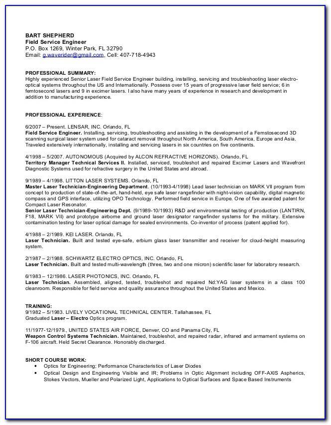 Curriculum Vitae Samples Doc Free Download