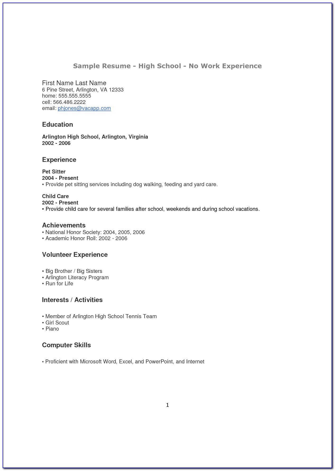Cv Template Finance Analyst