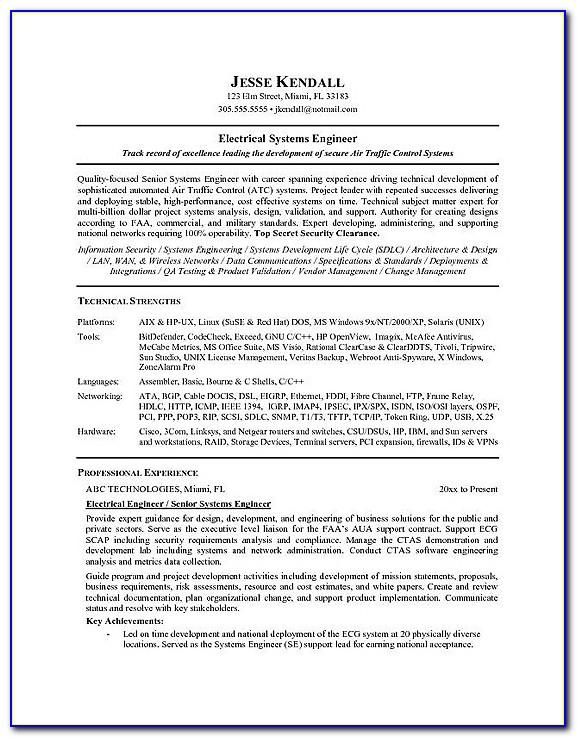Cv Template For Construction Project Manager
