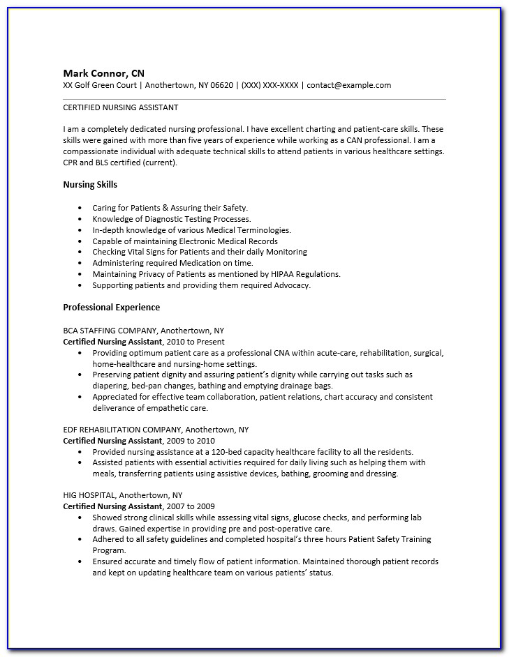 Cv Template For No Work Experience