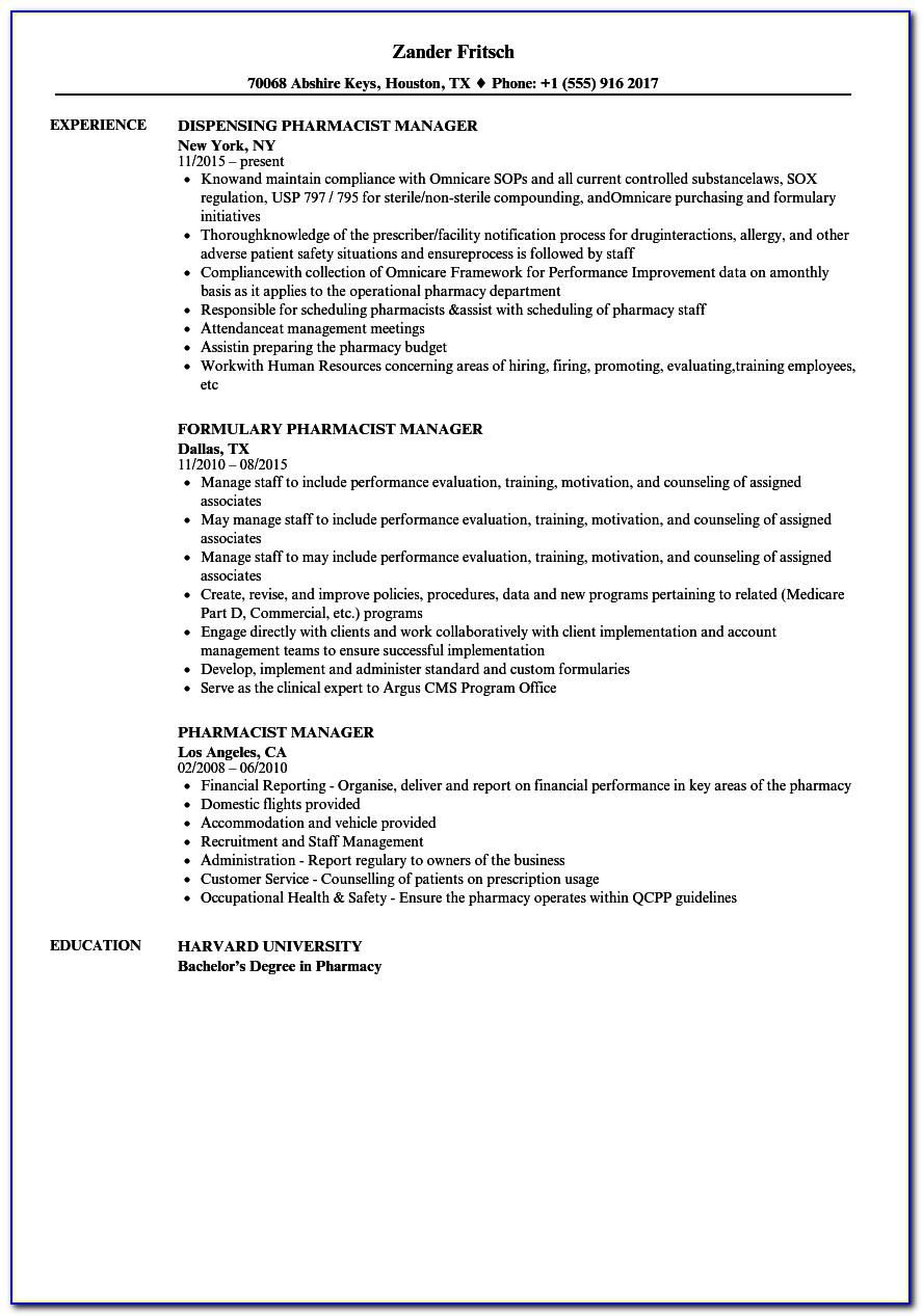 Cv Template For Restaurant Manager