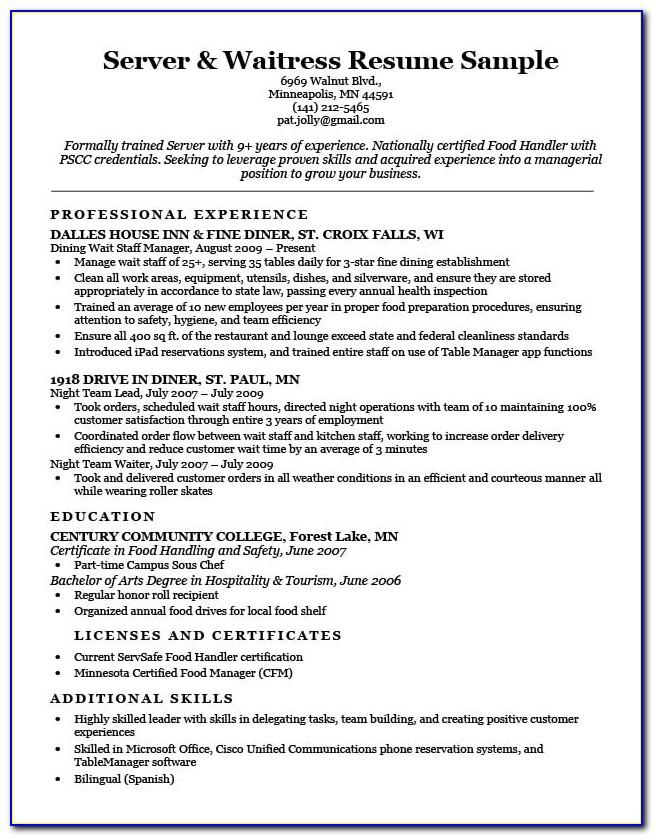 Cv Template For Retail Store Manager
