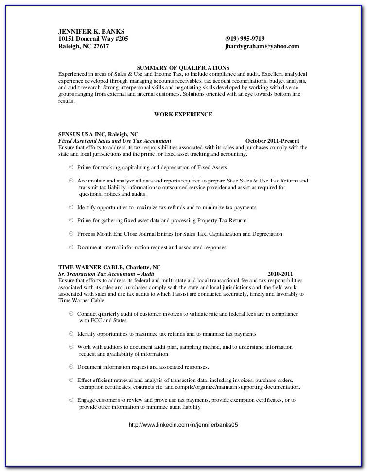 Cv Template Senior Accountant