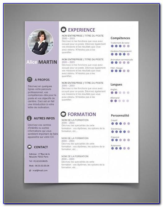 Cv Template Word Free Download Doc