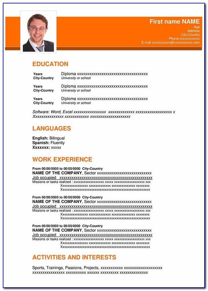 Downloadable Resume Templates For Word 2007