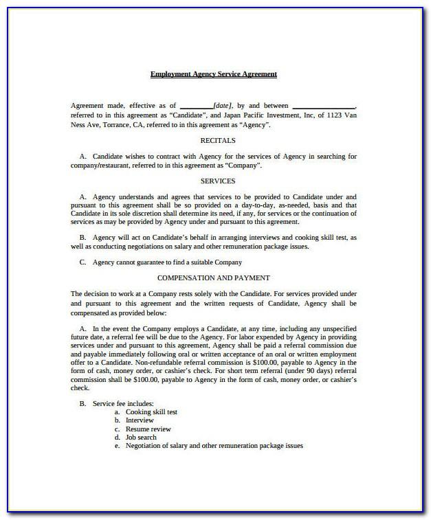 Employment Agency Brochure Template