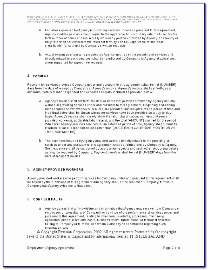 Employment Agency Contract Template