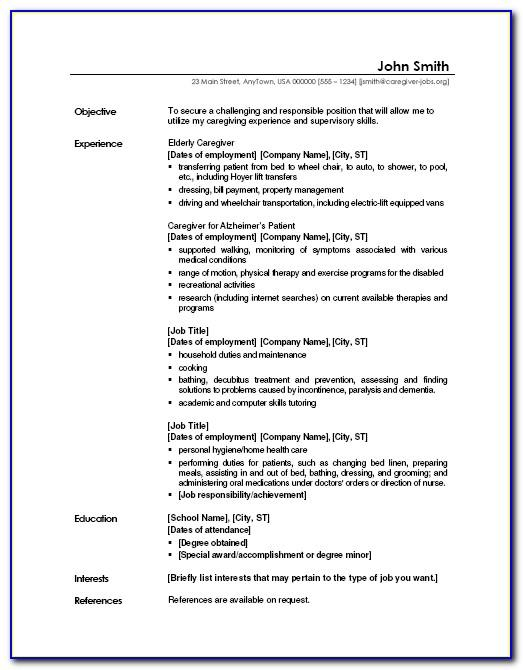 Example Cv For Students With No Work Experience