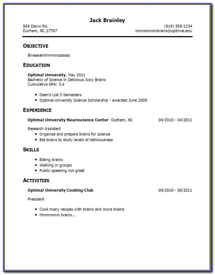 Example Resume For First Job Teenager