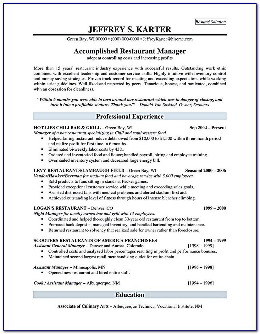 Example Resume For Nursing Aide