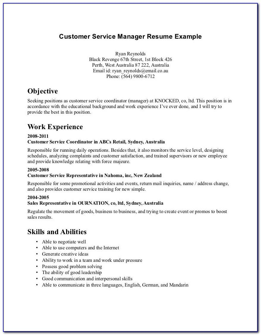 Example Resume For Stay At Home Mom Reentering Workforce