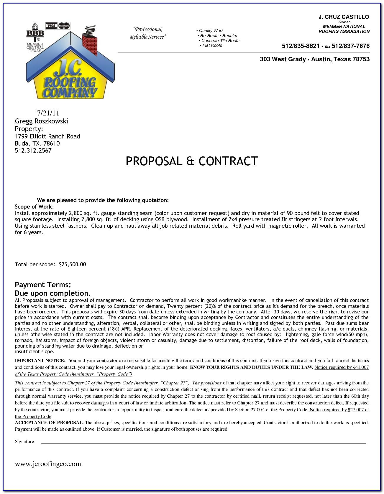 Florida Residential Construction Contract Template