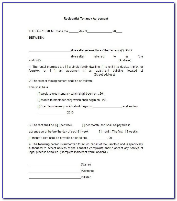 Florida Residential Lease Agreement Template Free