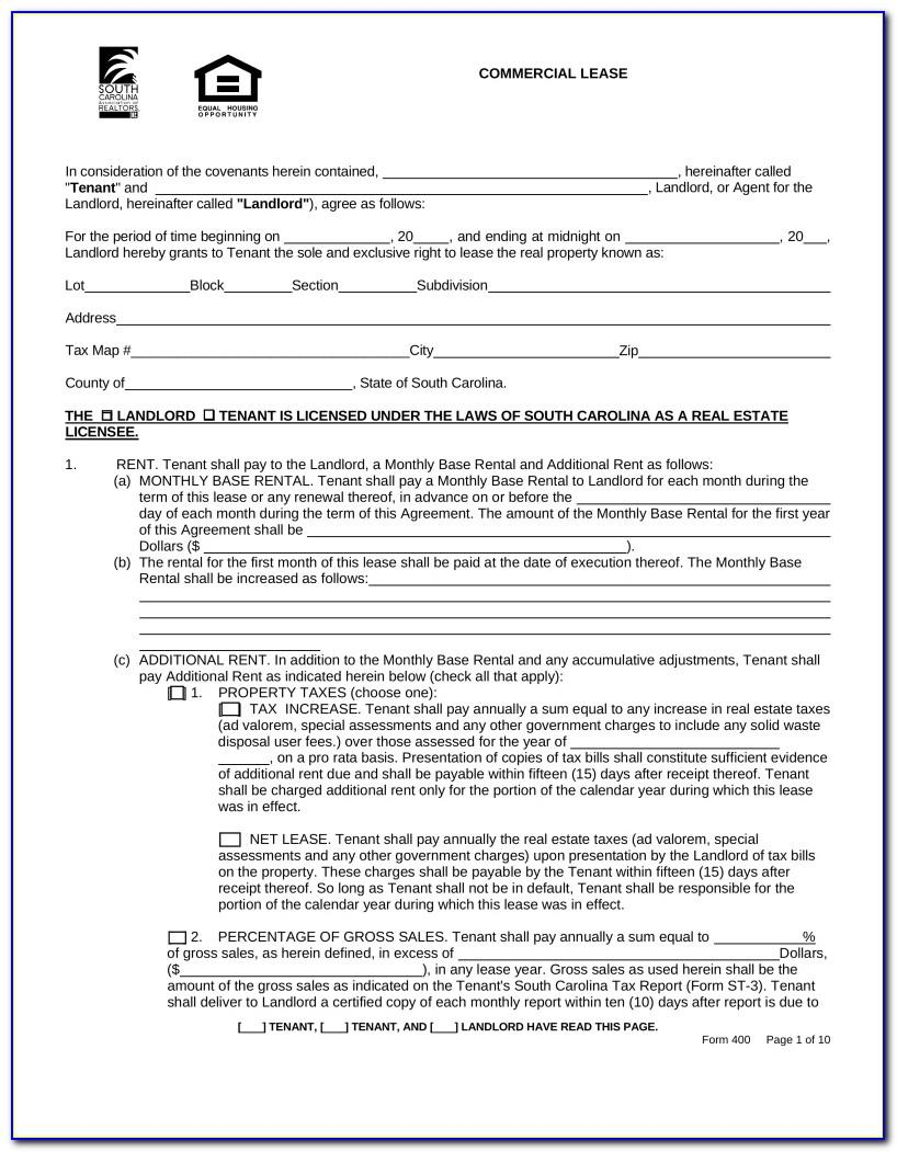 Free Florida Real Estate Lease Agreement