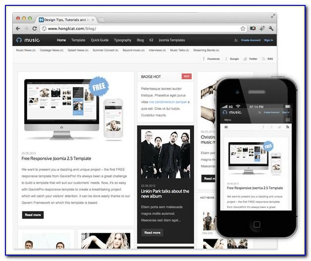 Free Joomla 3 Responsive Templates Download