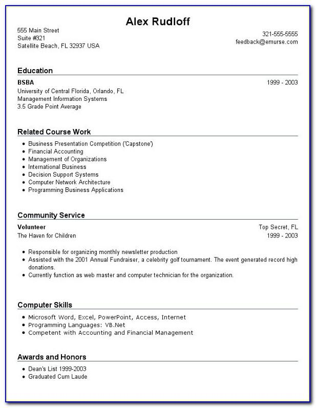Free Online Resume Templates For Teachers
