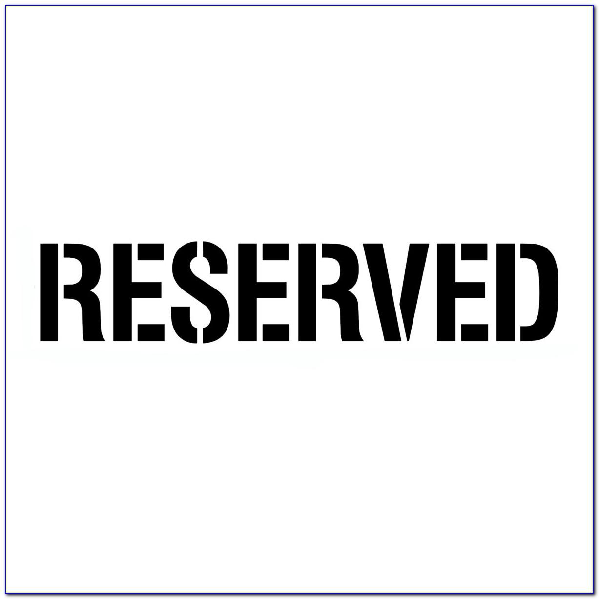 Free Printable Reserved Parking Sign Template