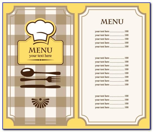 Free Restaurant Menu Powerpoint Templates
