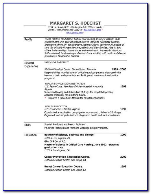 Free Resume Builder Template Printable