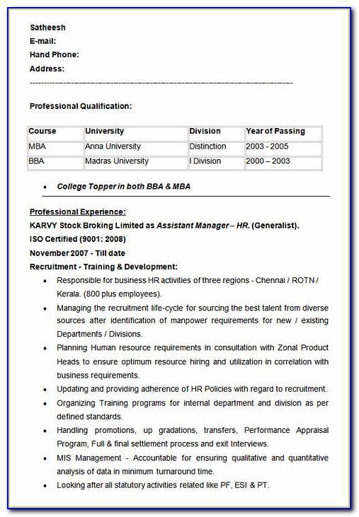 Free Resume Template For High School Senior