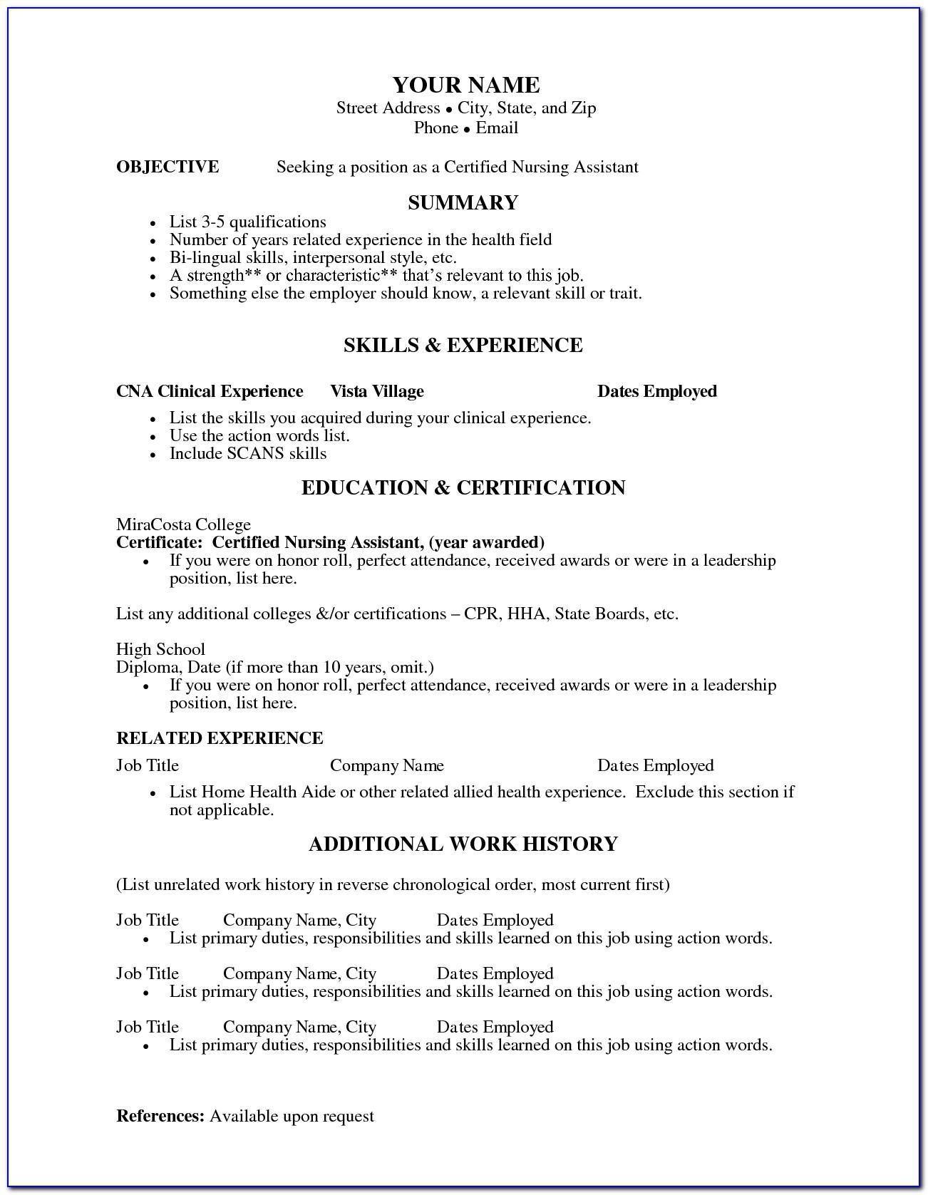 Free Resume Template For Recent College Graduate