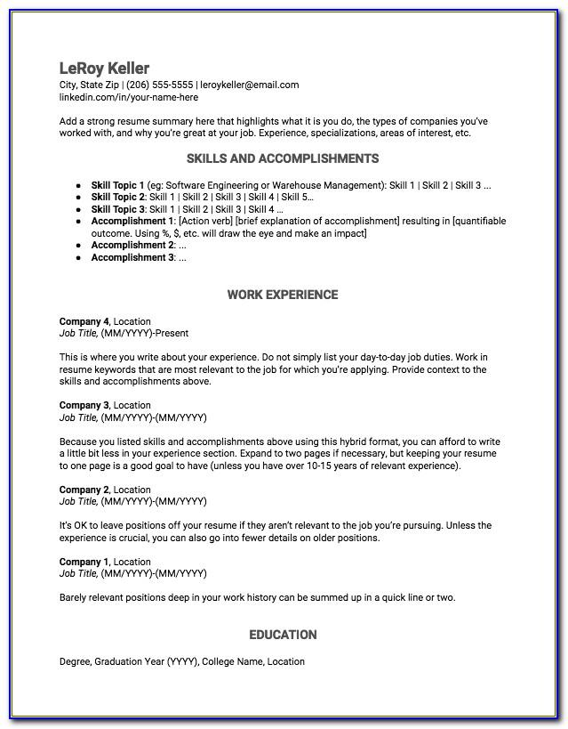 Free Resume Templates For Actors