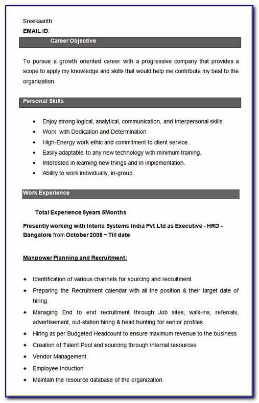 Free Resume Templates For Highschool Graduates