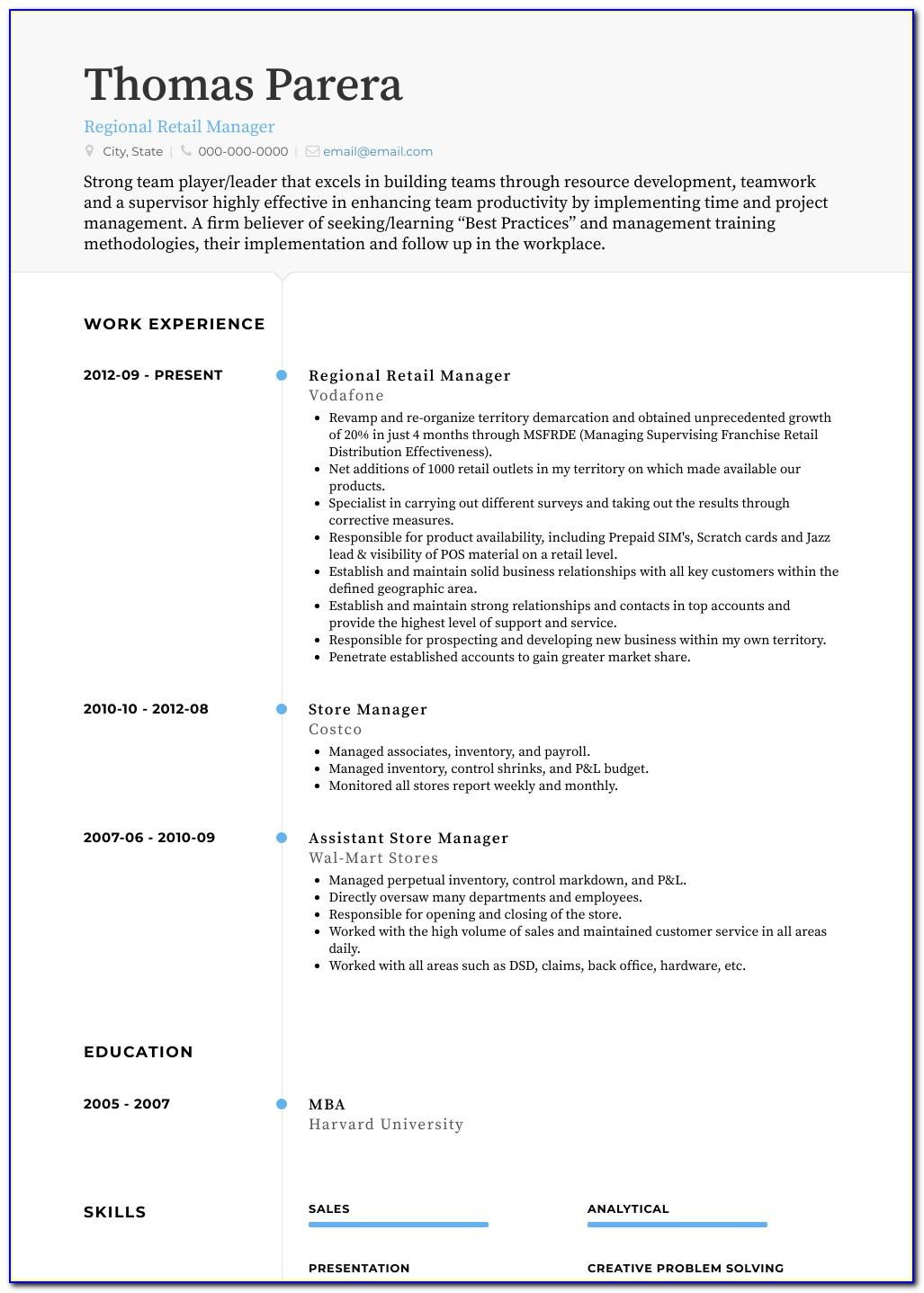 Free Resume Templates For Receptionist Position