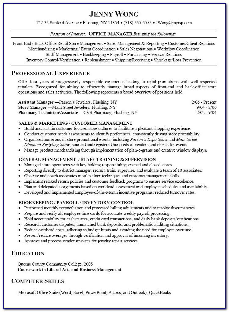 Free Resume Templates For Receptionist