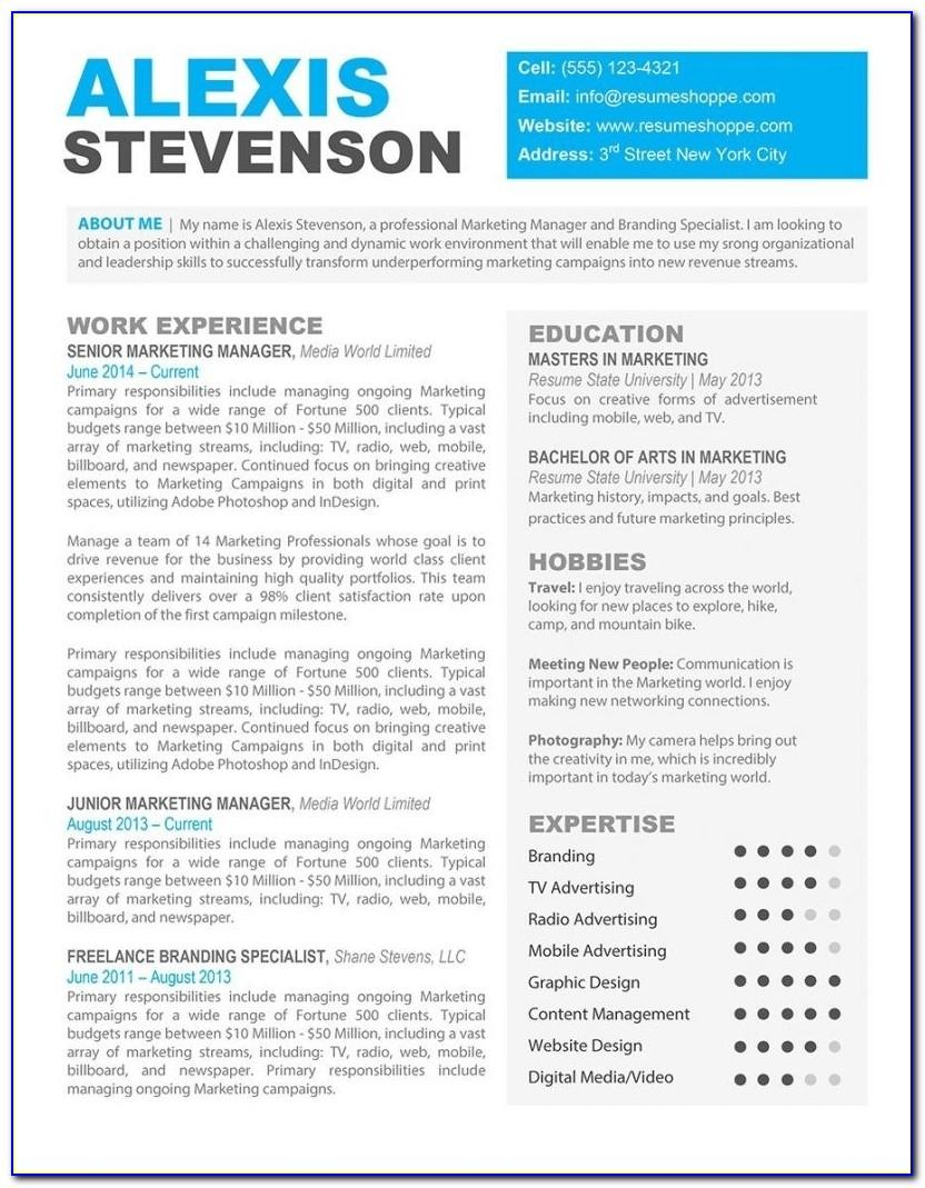 Free Resume Templates For Word Mac