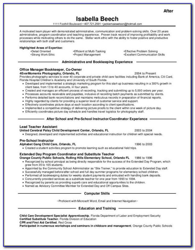 Free Sample Resume Templates 2018