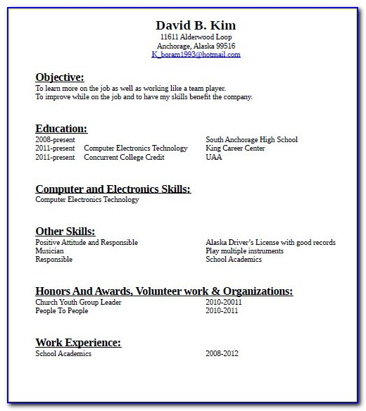 Good Resume For Machine Operator