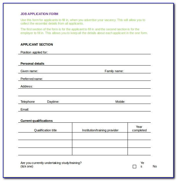 Hotel Registration Form Template Word