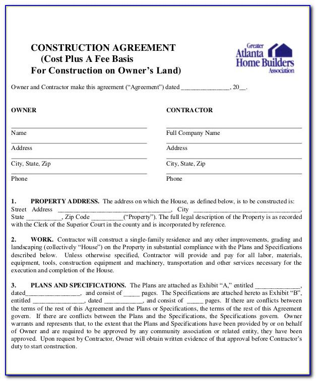 House Construction Contract Agreement Philippines