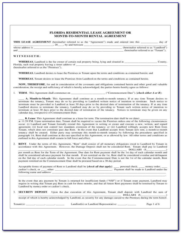 Illinois Residential Lease Agreement Form Pdf