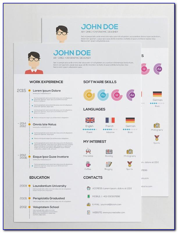 Infographic Cv Template Word Free