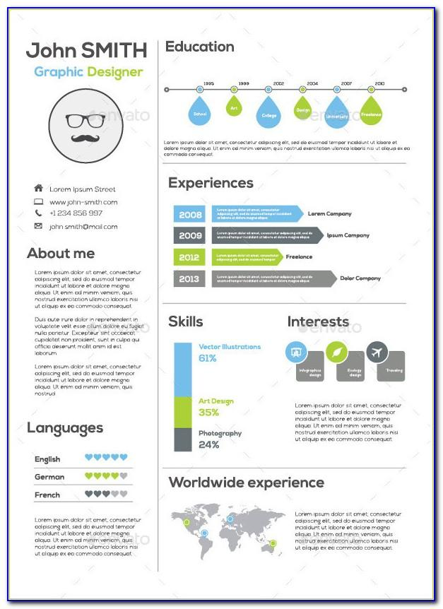 Infographic Resume Templates Microsoft Word Free