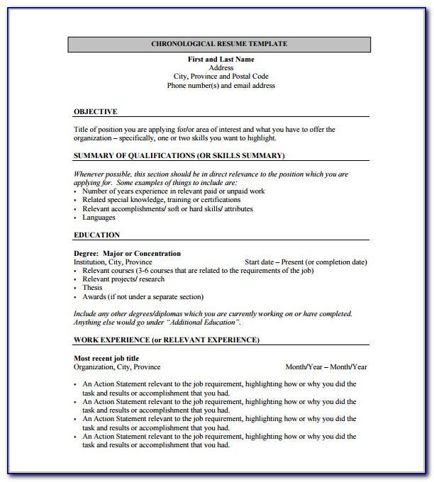 Job Resume Sample Pdf Free Download