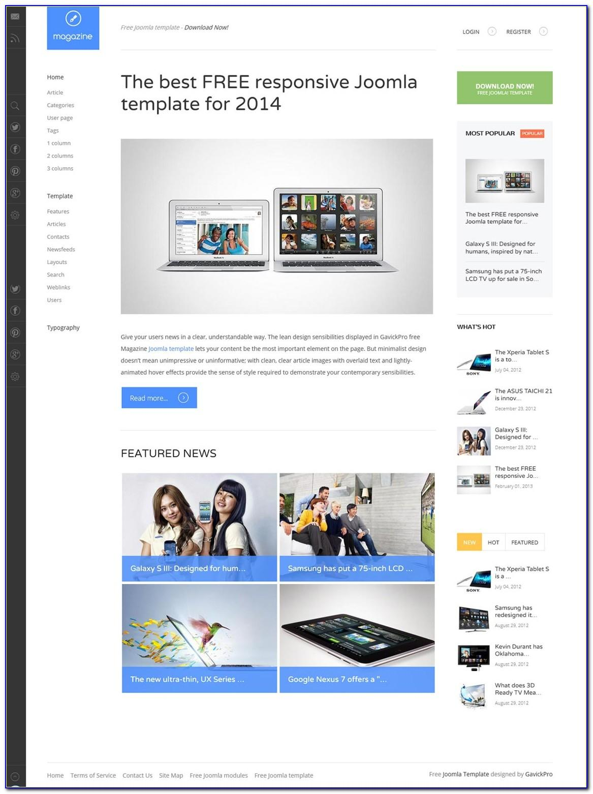 Joomla 3 Responsive Templates Free Download