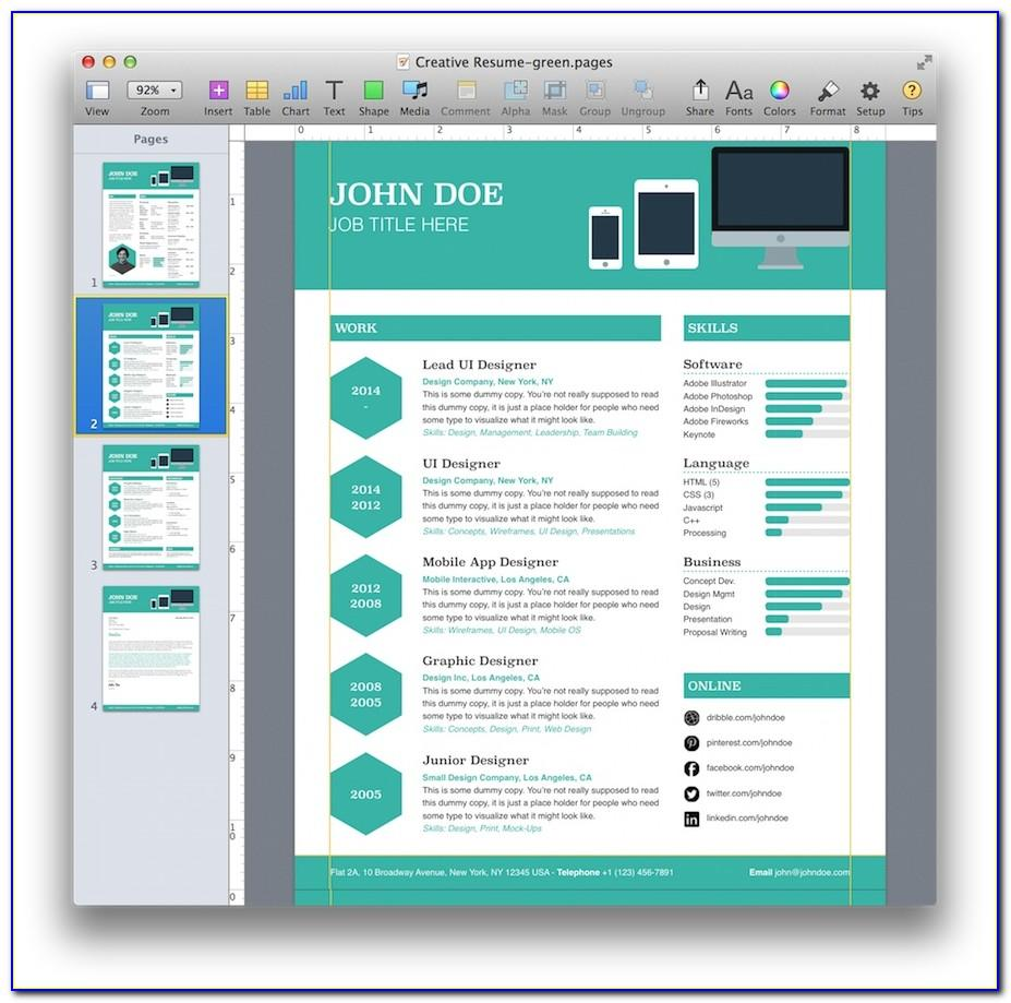 Microsoft Word Mac Resume Templates