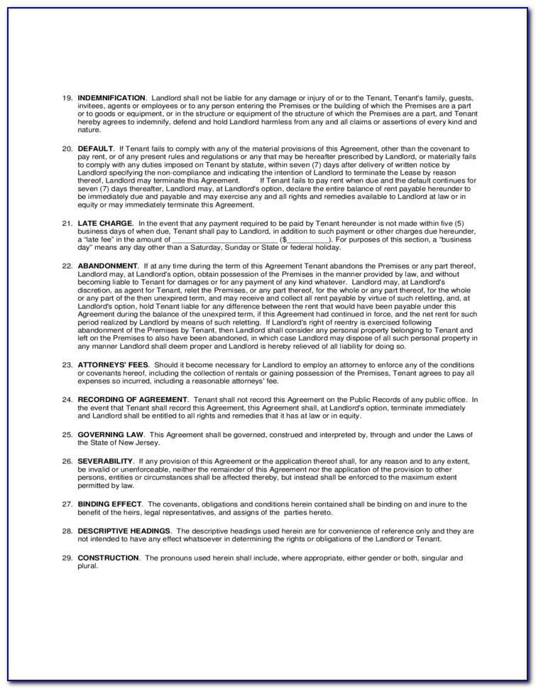 Microsoft Word Residential Lease Agreement Template