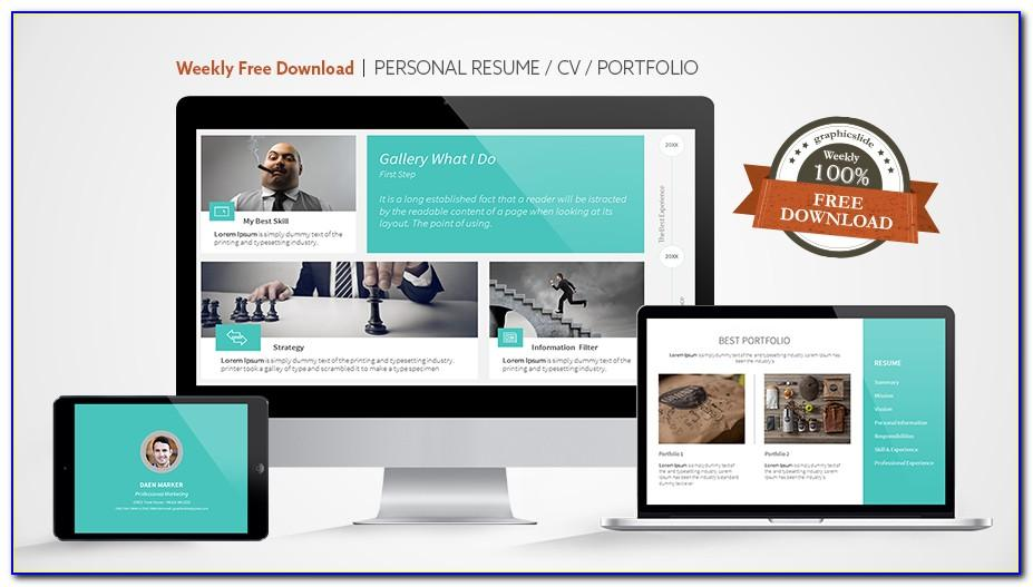 Minimalist Portfolio & Resume After Effects Template Free Download