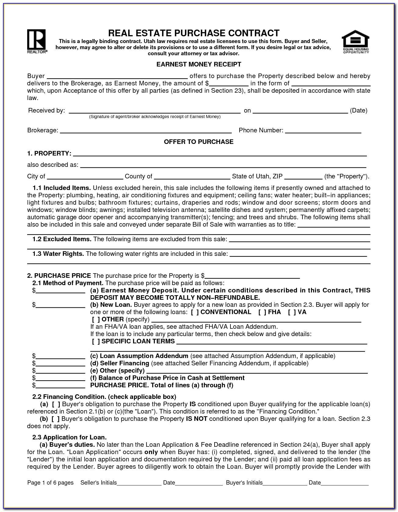 Mississippi Real Estate Sales Contract Form