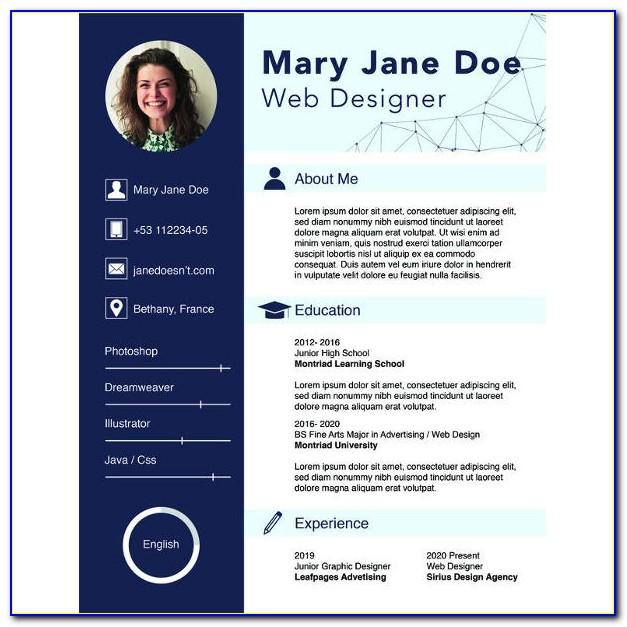 New Cv Format Template Free Download